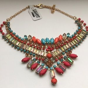NWT Free People stone crystal statement necklace
